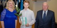 Räpina Ühisgümnaasiumi õpilane Rasmus Mirma