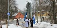 Eesti Vabariigi 103. aastapäeva mälestushetk Räpina ausamba pargis. Foto: Meriliin Vahesaar