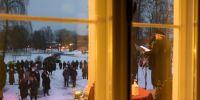 Vaade Räpina mõisa peahoone aknast. Foto: Merle Värv