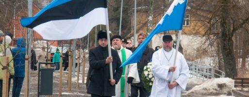 Eesti Vabariigi 101. aastapäeva mälestushetk