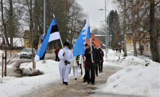 Eesti Vabariigi 103. aastapäeva tähistamine Räpinas 24.02.2021