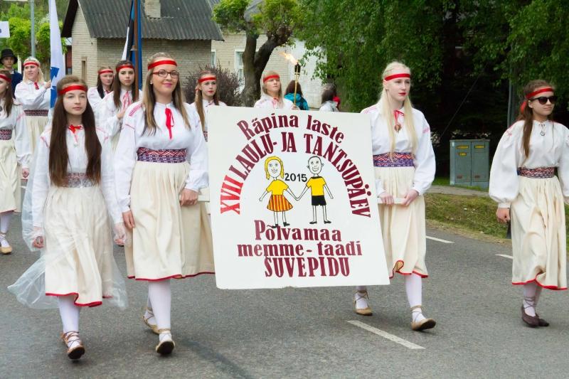 XVII Räpina laste laulu- ja tantsupäev ning maakondlik memme-taadi pidu
