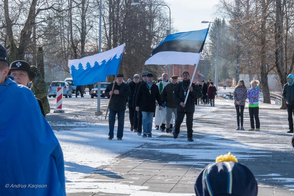 Eesti Vabariigi 99. aastapäeva mälestushetk
